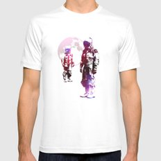 Space Men SMALL White Mens Fitted Tee