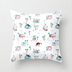 Summer houses Throw Pillow