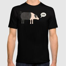 Oink Mens Fitted Tee Black SMALL