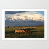 Horse Creek, WY Art Print