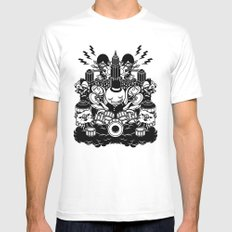 Octopus Drummer 2010 White Mens Fitted Tee SMALL