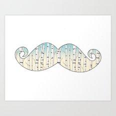 Russian mustache Art Print
