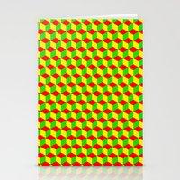 Cubed - Rasta Stationery Cards