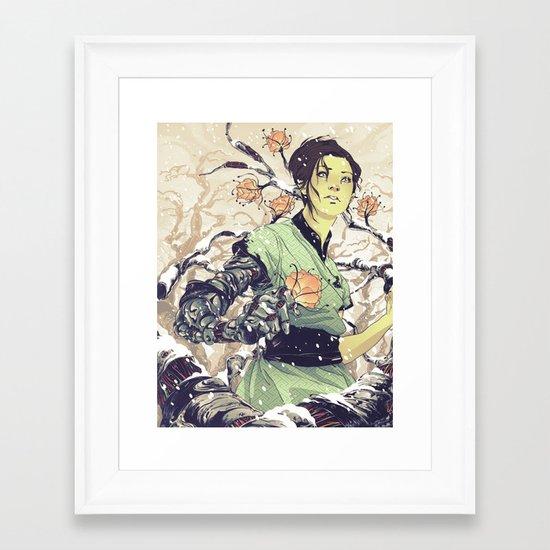 Glitches Framed Art Print