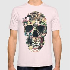 Vintage Skull Mens Fitted Tee Light Pink SMALL