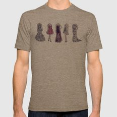 Haute Couture  Mens Fitted Tee Tri-Coffee SMALL