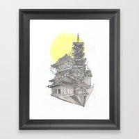 City Of Lanterns Framed Art Print