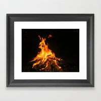 Bonfire (lohri) Framed Art Print