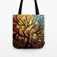 Abstract Tree-9 Tote Bag