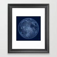 Dark Side of the Moon - Painting Framed Art Print