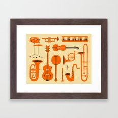 Just Jazz Framed Art Print