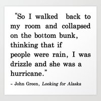 She Was A Hurricane Art Print