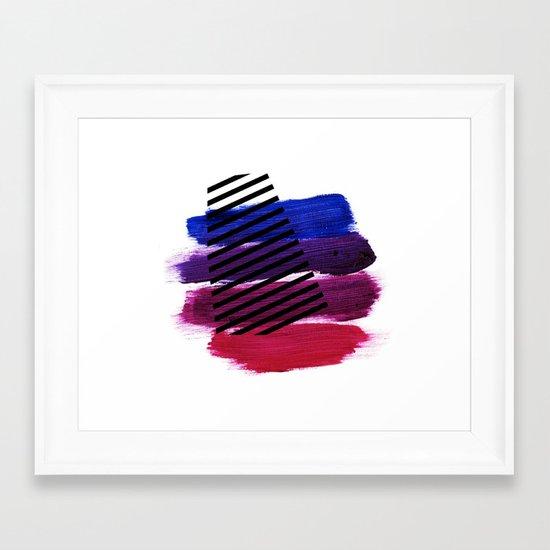 Magenta Broadcast Framed Art Print