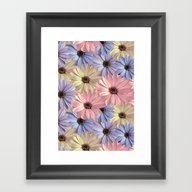 Pink Yellow Blue Framed Art Print