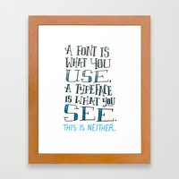 Fonts, Typefaces & Lette… Framed Art Print