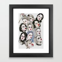 Sky Ferreira Collage Framed Art Print