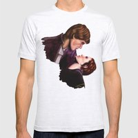 Star Wars, Han & Leia The Empire Strikes Back Mens Fitted Tee Ash Grey SMALL