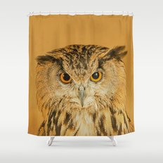 OWL RIGHT ON THE NIGHT Shower Curtain