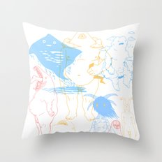 Gods of the Planets Throw Pillow