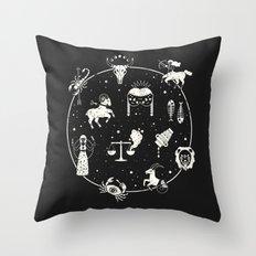 Strange Fortunes: Midnight Throw Pillow