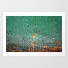 Cracked wall Art Print