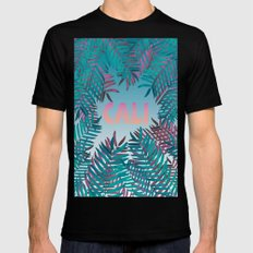 CALI VIBES Mens Fitted Tee Black SMALL