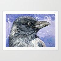 Storm Raven C013 Art Print