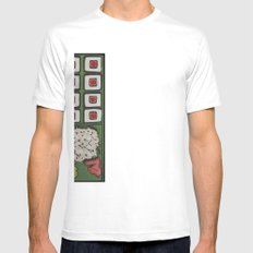 Bento Box Mens Fitted Tee SMALL White
