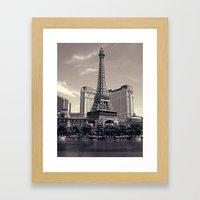 Paris, Vegas Framed Art Print