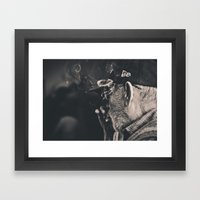 Smoking Man Framed Art Print