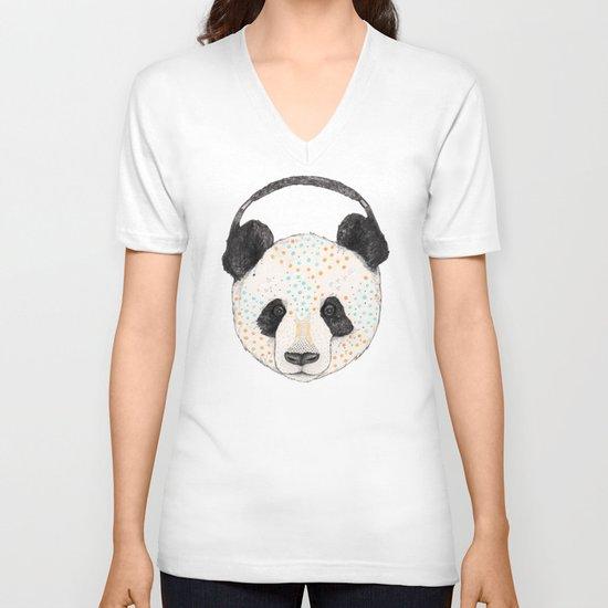 Polkadot Panda V-neck T-shirt