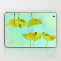 6 Yellow Flowers On Turq… Laptop & iPad Skin