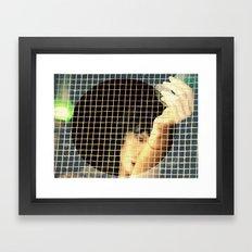 Huyéndome Framed Art Print