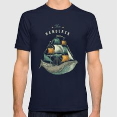 Whale | Petrol Grey Mens Fitted Tee Navy SMALL