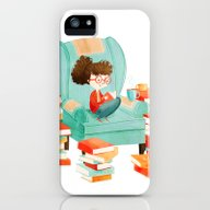 Read Books And Drink Tea iPhone (5, 5s) Slim Case