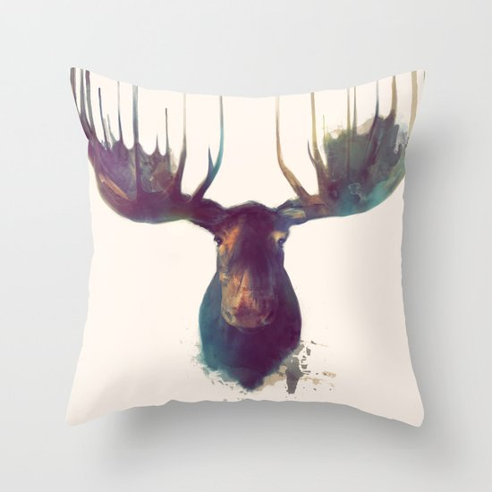 Moose Throw Pillow