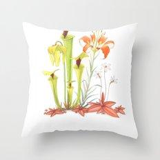 My Pitcher Plant Bog Throw Pillow