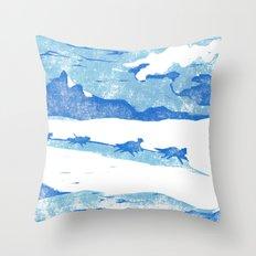 Iditarod Throw Pillow