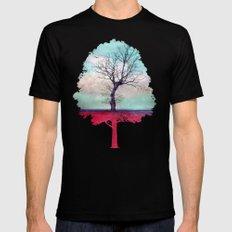 ATMOSPHERIC TREE | Longing for spring SMALL Mens Fitted Tee Black