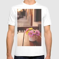 Flowers in the street Mens Fitted Tee White SMALL