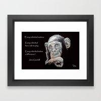 A Jane Goodall Quote - B… Framed Art Print