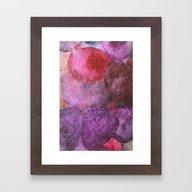 Grape Watercolor Framed Art Print