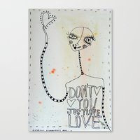 Canvas Print featuring Don't you just Love... Love by Cally's Creations