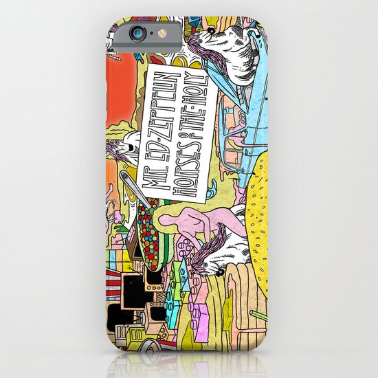 """Mr. Ed-Zeppelin - """"Horses of the Holy"""" by Steven Fiche iPhone & iPod Case"""