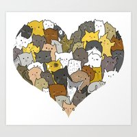 I Love Cats Art Print