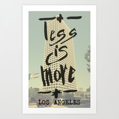 Less is More - Los Angeles -  Art Print