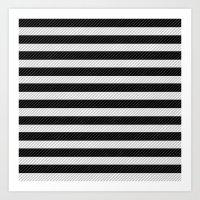 Sleepy Black And White S… Art Print