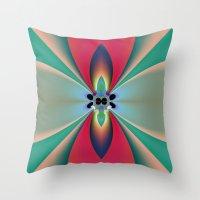 Funky Flower Throw Pillow