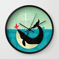 The Bird And The Whale Wall Clock