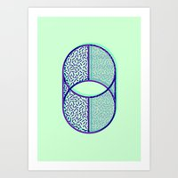 Cylindrical error Art Print